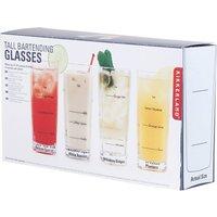 Set of four bartending glasses