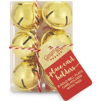 Christmas bell place card holders
