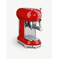Smeg red espresso machine