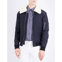 Manchester faux-shearling-collar cotton-blend jacket