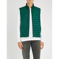 Padded shell-down sleeveless jacket