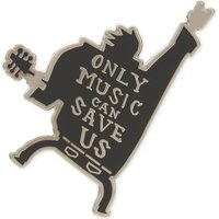 Only Music Can Save Us enamel pin