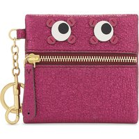 Metallic leather coin purse