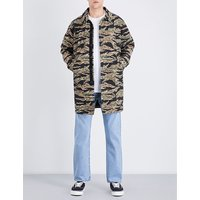 Camouflage-patterned cotton jacket