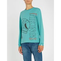 Point of No Return long-sleeved cotton-jersey top