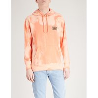 Tie-dye printed cotton-blend hoody