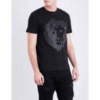 Lion-print cotton-jersey T-shirt