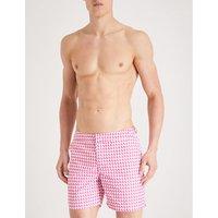 Graphic-print swim shorts