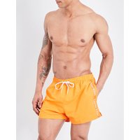 Calvin Klein Logo-print crepe swim shorts, Mens, Size: L, Orange popsicle