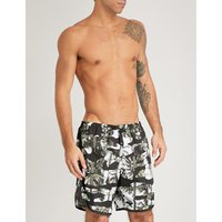 Camo-pint swim shorts