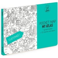 Omy Coloring pocket Atlas map