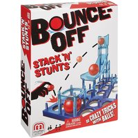 Bounce-off stack 'n' stunts board game