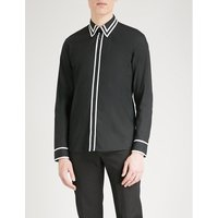 Contrast-trim regular-fit cotton shirt