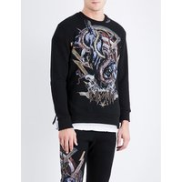 Animal-print cotton sweatshirt