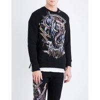Animal-print cotton sweatshirt