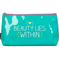 Beauty Lies Within vinyl wash bag