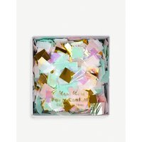 Iridescent confetti box