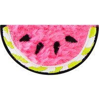 Fluffy watermelon iron on patch
