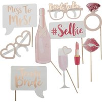 Ginger Ray Team Bride paper photo booth props