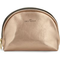 Sweet And Sour Semi-circle copper make-up bag, Women's