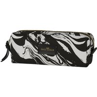 Sweet And Sour Small marble-print square make-up bag