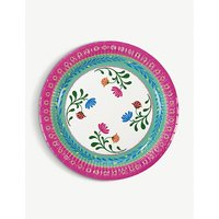Boho mixed floral paper plates pack of 12