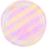 We Heart Unicorns iridescent paper plates