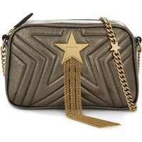 Star faux-leather camera cross-body bag