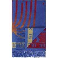 London print wool blanket scarf