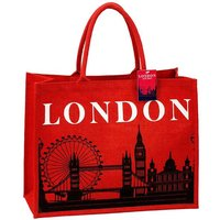 London Skyline Jute Tote Bag