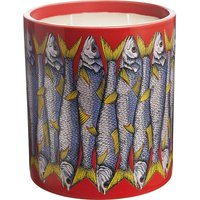 Fornasetti Sardine Rosso large scented candle