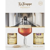 La Trappe Trappist four ale & glass gift pack 4 x 330ml