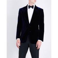 Shelton slim-fit velvet jacket