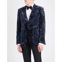 Shelton regular-fit floral velvet jacket