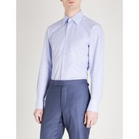 Checked classic-fit cotton shirt