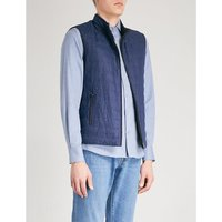 ID checked reversible silk gilet