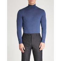Turtleneck cashmere, wool and silk-blend jumper