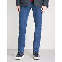 Washed regular-fit straight-leg jeans