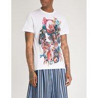 图形-打印 棉-球衣 吨-衬衫