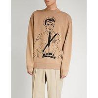 Policeman-intarsia wool jumper