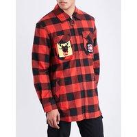 Lumberjack-patch flannel shirt