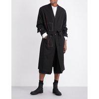 Tie-waist wool coat