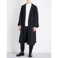 Batwing-sleeve oversized shell coat