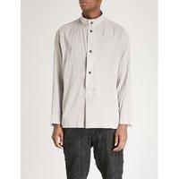 定期-适合 棉-plissé 衬衫