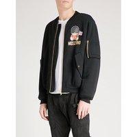 London Bear cotton-jersey bomber jacket