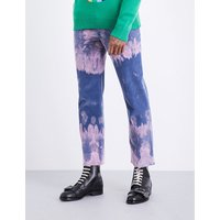 Bleached cotton corduroy trousers