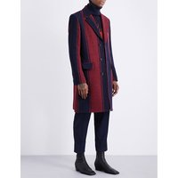City striped wool coat