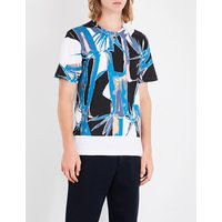 Jungle-print cotton-jersey T-shirt