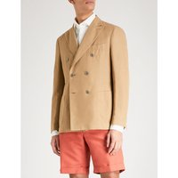 Chinolino double-breasted linen and cotton-blend jacket