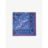 Paisley aztec print silk pocket square